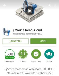 Voice read 1